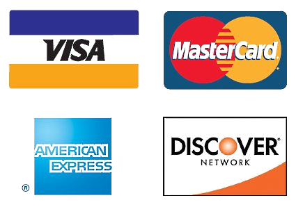 We accept all four major credit cards